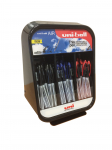 AIR PEN COUNTER DISPLAY UNIT 24 EA BLACK, BLUE, RED MEDIUM
