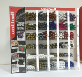 METALLIC PEN COUNTER DISPLAY UNI 396 PIECE