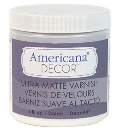 ULTRA MATT VARNISH 8oz 236ml AMERICANA&#174; DECOR<sup>(TM)</sup>