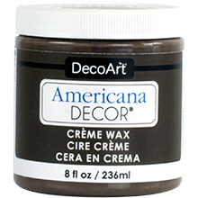 CREME WAX DEEP BROWN 8oz 236ml AMERICANA&#174; DECOR<sup>(TM)</sup>