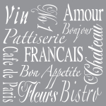 FRENCH LIVING 12inchx12inch AMERICANA® DECOR<sup>(TM)</sup> STENCIL