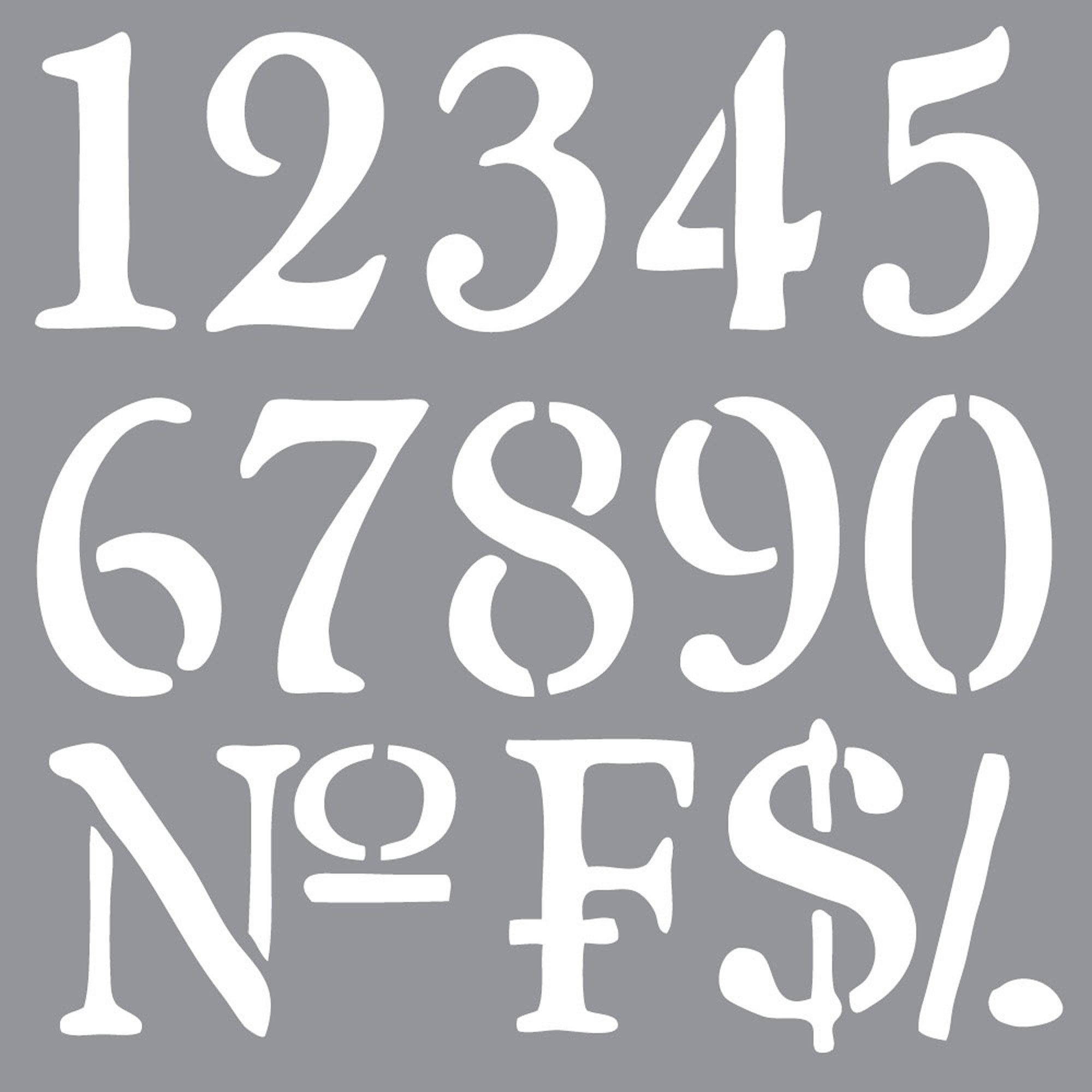 OLDE WORLD NUMBERS 12inchx12inch AMERICANA&#174; DECOR<sup>(TM)</sup> STENCIL