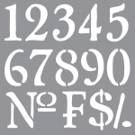 OLDE WORLD NUMBERS 12inchx12inch AMERICANA® DECOR<sup>(TM)</sup> STENCIL