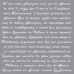 OLD FRENCH SCRIPT 12inchx12inch AMERICANA® DECOR<sup>(TM)</sup> STENCIL