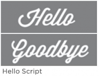 HELLO SCRIPT 6inchx18inch 2-PART AMERICANA® DECOR<sup>(TM)</sup> STENCIL