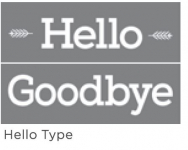 HELLO TYPE 6inchx18inch 2-PART AMERICANA® DECOR<sup>(TM)</sup> STENCIL