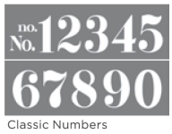 CLASSIC NUMBERS 6inchx18inch 2-PART AMERICANA® DECOR<sup>(TM)</sup> STENCIL