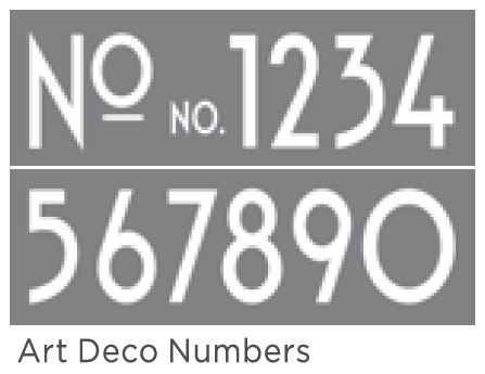 ART DECO NUMBERS 6inchx18inch 2-PART AMERICANA&#174; DECOR<sup>(TM)</sup> STENCIL