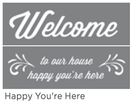 HAPPY YOU'RE HERE 6inchx18inch 2-PT AMERICANA&#174; DECOR<sup>(TM)</sup> STENCIL