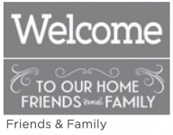 FRIENDS & FAMILY 6inchx18inch 2-PART AMERICANA® DECOR<sup>(TM)</sup> STENCIL