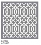 LATTICE 18inchx18inch AMERICANA® DECOR<sup>(TM)</sup> STENCIL