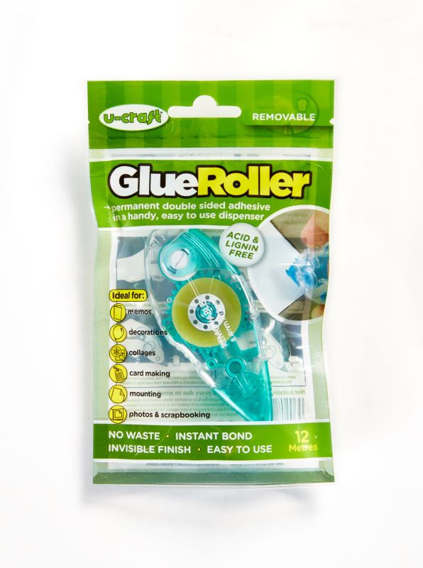 U-CRAFT GLUE TAPE REMOVABLE ROLLER 8.4mm x 12m 200784