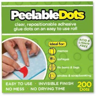 U-CRAFT PEELABLE DOTS 10mm REMOVABLE 200 201062B