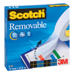 3M 811 REMOVABLE TAPE (BLUE BOX) 19mmX33m