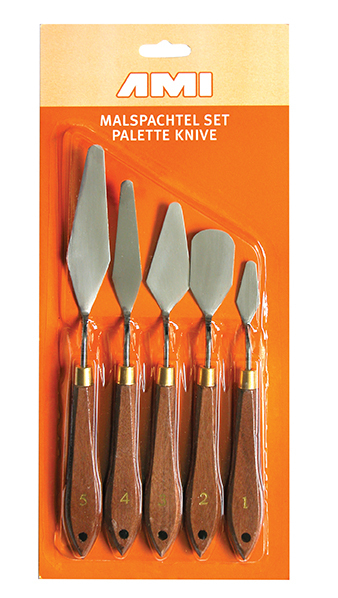 AMI PALETTE KNIFE SET 5 METAL 547950