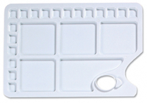 PLASTIC 23 WELL RECTANGULAR PALETTE 340mm x 235mm