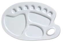 PLASTIC KIDNEY SHAPED PALETTE LARGE 33.5cm x 22.5cm