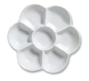 PORCELAIN DAISY PALETTE 7 WELL 4¾inch