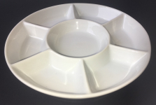 PORCELAIN PALETTE 7 WELL LARGE 18cm / 7inch