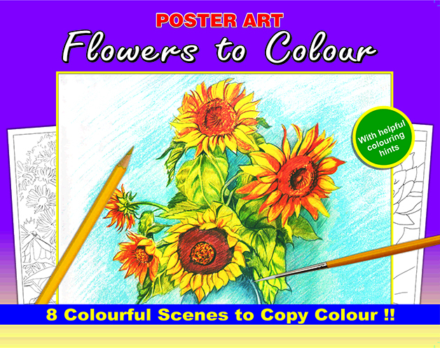 COLOURING BOOKS - NATURE TO COLOUR