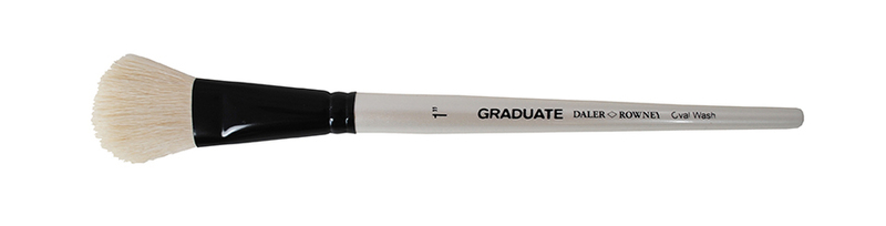 212152100 WHT GOAT OVAL 1inch WASH DR GRADUATE BRUSH