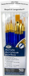 ROYAL GOLDEN TAKLON BRUSH SET OF 10