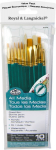 ROYAL WHITE BRISTLE/GOLDEN TAK LON BRUSH SET OF 10