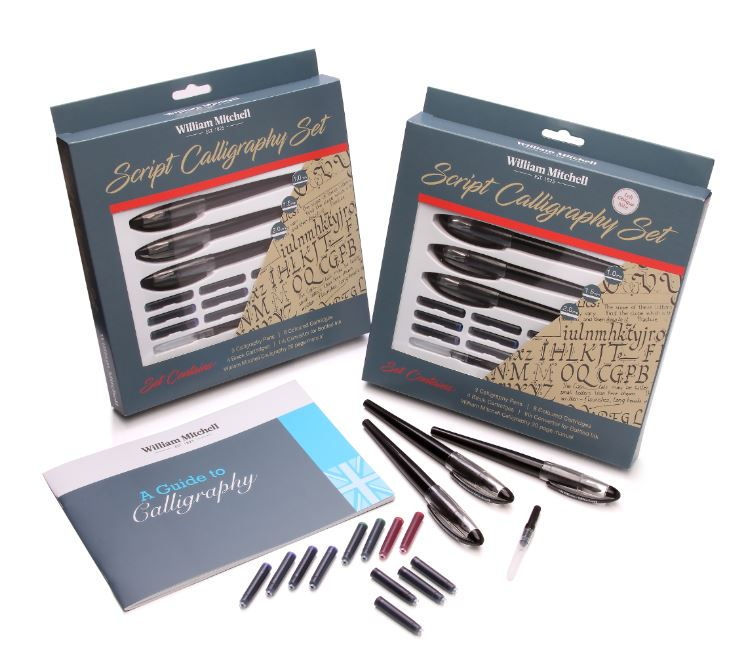 SCRIPT CALLIGRAPHY SET WILLIAM MITCHELL