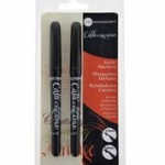 CALLICREATIVE BLACK ITALIC TWINPACK MARKERS by MANUSCRIPT