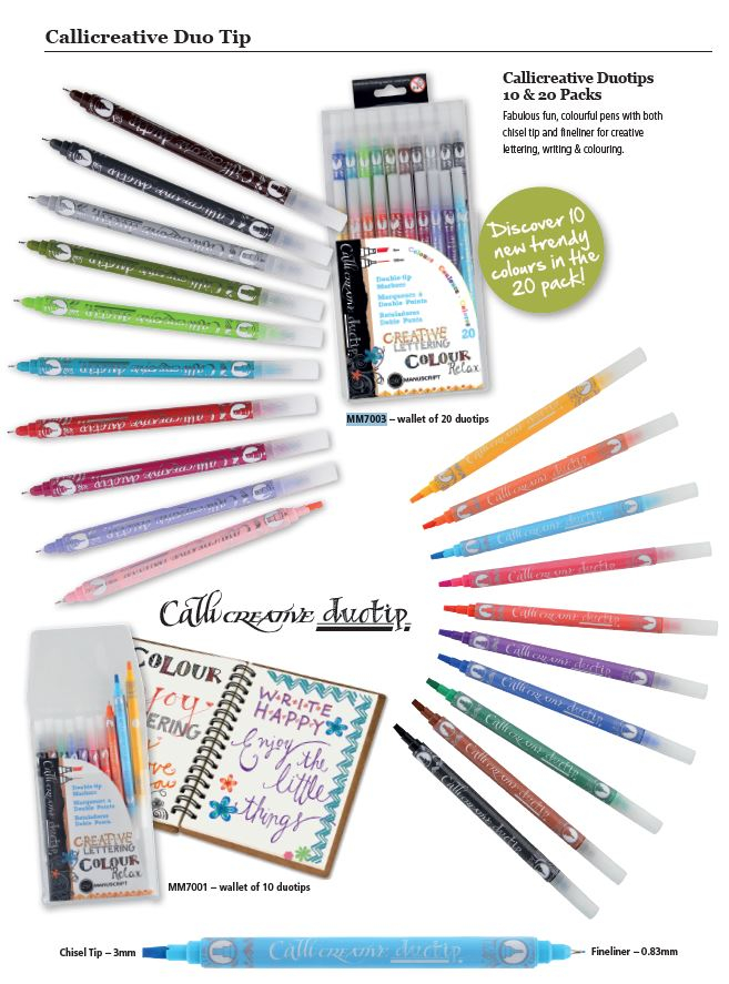 CALLICREATIVE 20 DUOTIP PEN ASSORTED WALLET MANUSCRIPT