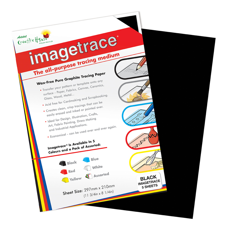IMAGETRACE A4  BLACK 5 SHEETS CREATIVE HOUSE