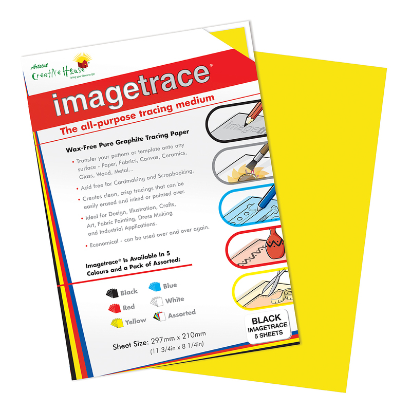 IMAGETRACE A4  YELLOW 5 SHEETS CREATIVE HOUSE