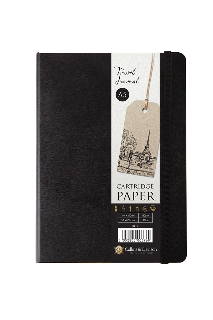 A5 TRAVEL JOURNAL 64 SHEET WITH BAND CLOSURE