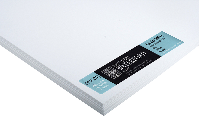 SAUNDERS WATERFORD PAPER 300lb /638g - HOT PRESSED SURFACE