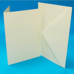CRAFT UK 5x7 IVORY CARD/ENVELOPE 50 PACK 291