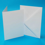 CRAFT UK 5x7 WHITE CARD/ENVELOPE 50 PACK 289