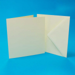 CRAFT UK 6x6 IVORY CARD/ENVELOPE 50 PACK 600