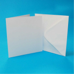 CRAFT UK 6x6 WHITE CARD/ENVELOPE 50 PACK 599
