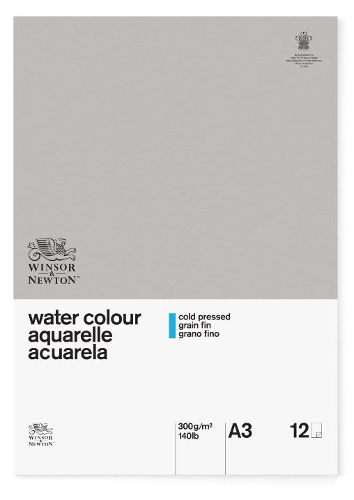 WN A3 GLUED CLASSIC 12SH CP WATERCOLOUR PAD 300G 6663254