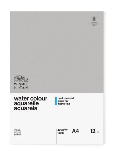 WN A4 GLUED CLASSIC 12SH CP WATERCOLOUR PAD 300G 6663251
