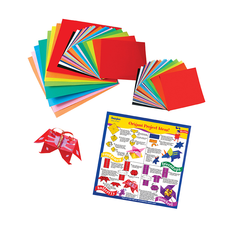ORIGAMI PAPER LARGE 55 SHEETS ASSORTED SIZES/COLOURS 7223-0