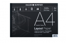 DR LAYOUT PAD A4 80 SHEET 45gsm 403030400