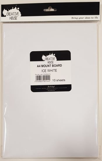 DR MOUNTBOARD A4 ICE WHITE 10 PACK CREATIVE HOUSE