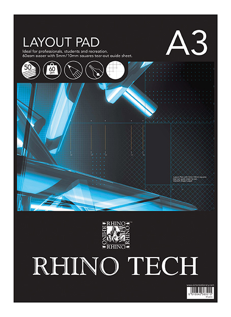 VICTOR RHINO LAYOUT PAD - A3(50 SHEETS/60GSM)