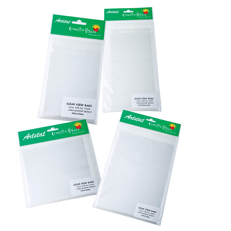 RESEALABLE CLEAR VIEW BAGS (25's) - 80X194mm