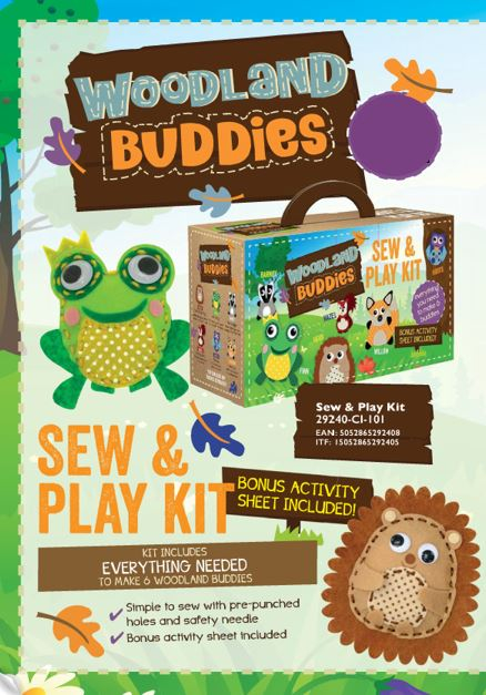 29249 WOODLAND BUDDIES CRAFT KITS. BUMPER ASSORTMENT OF 6