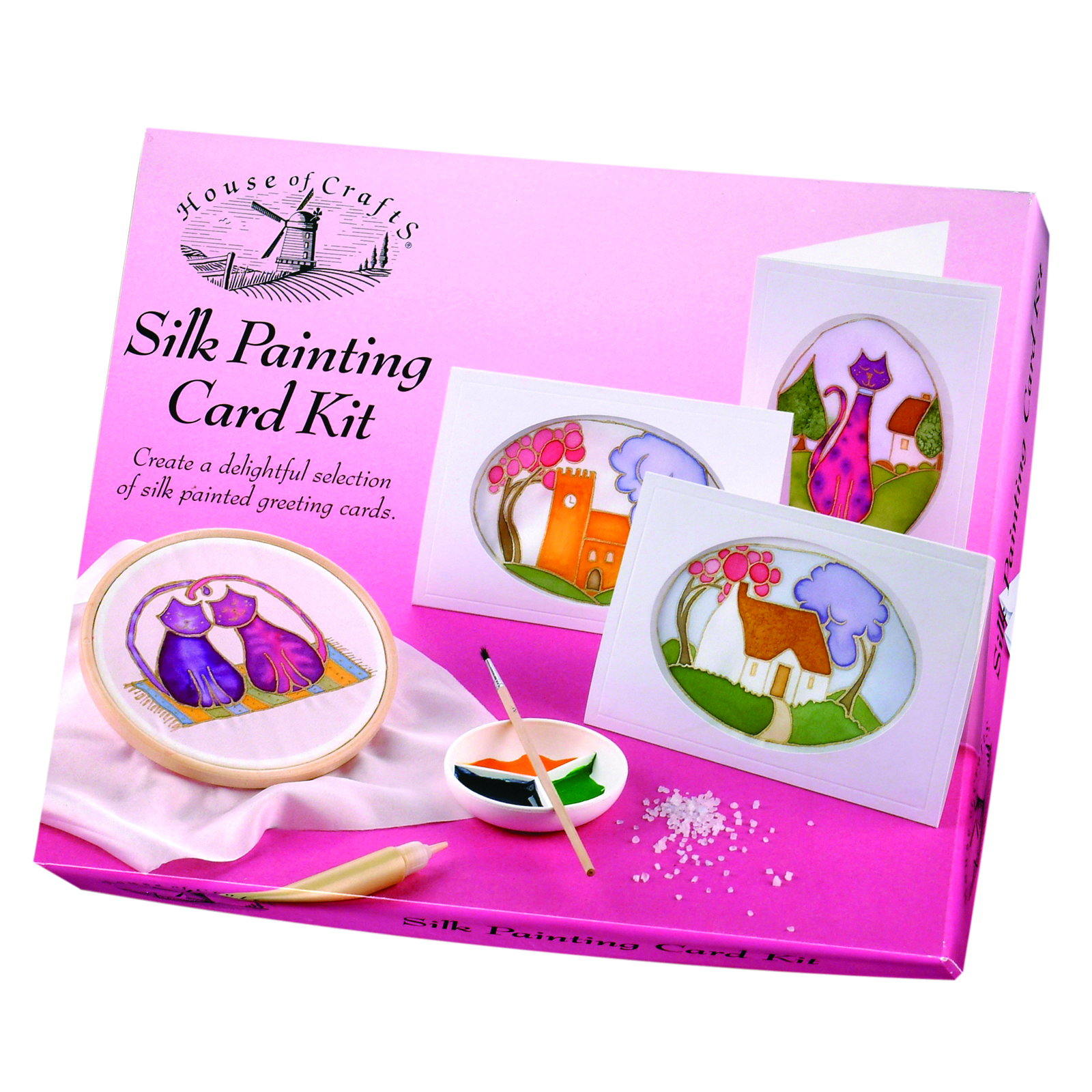 HOUSE OF CRAFTS SILK PAINTING KIT