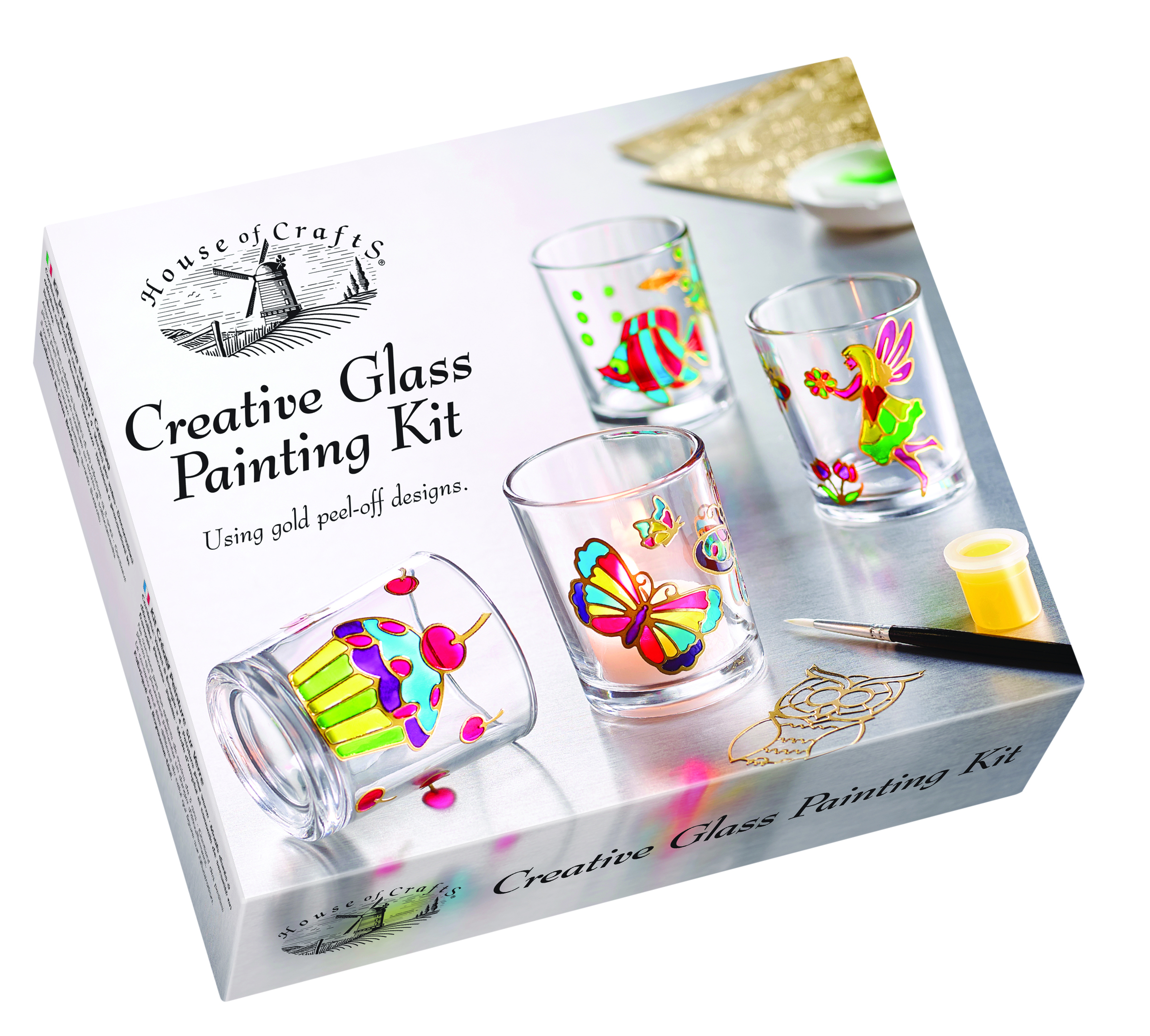 HOUSE OF CRAFTS CREATIVE GLASS PAINTING KIT HC600