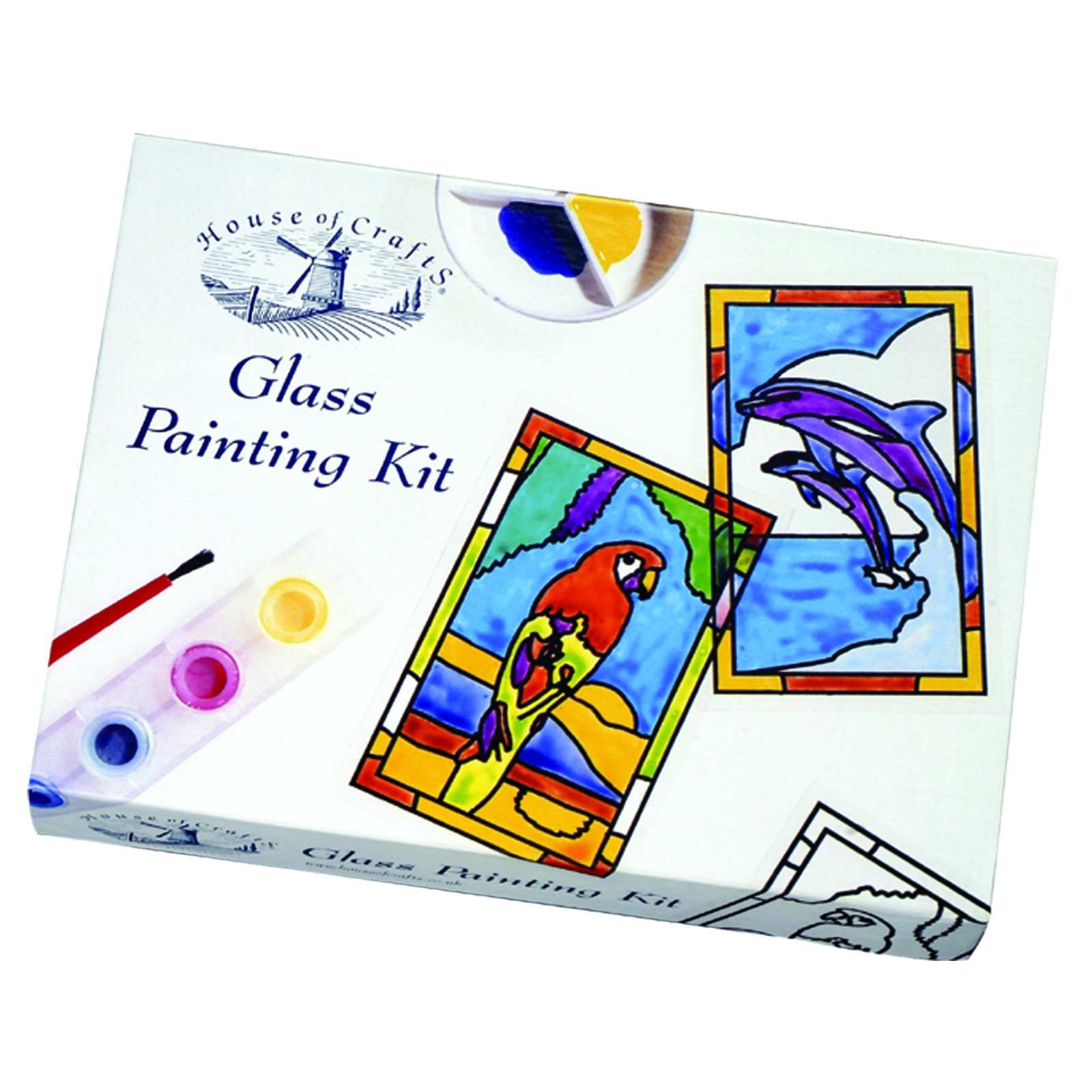 HOUSE OF CRAFTS -GLASS PAINTING KIT