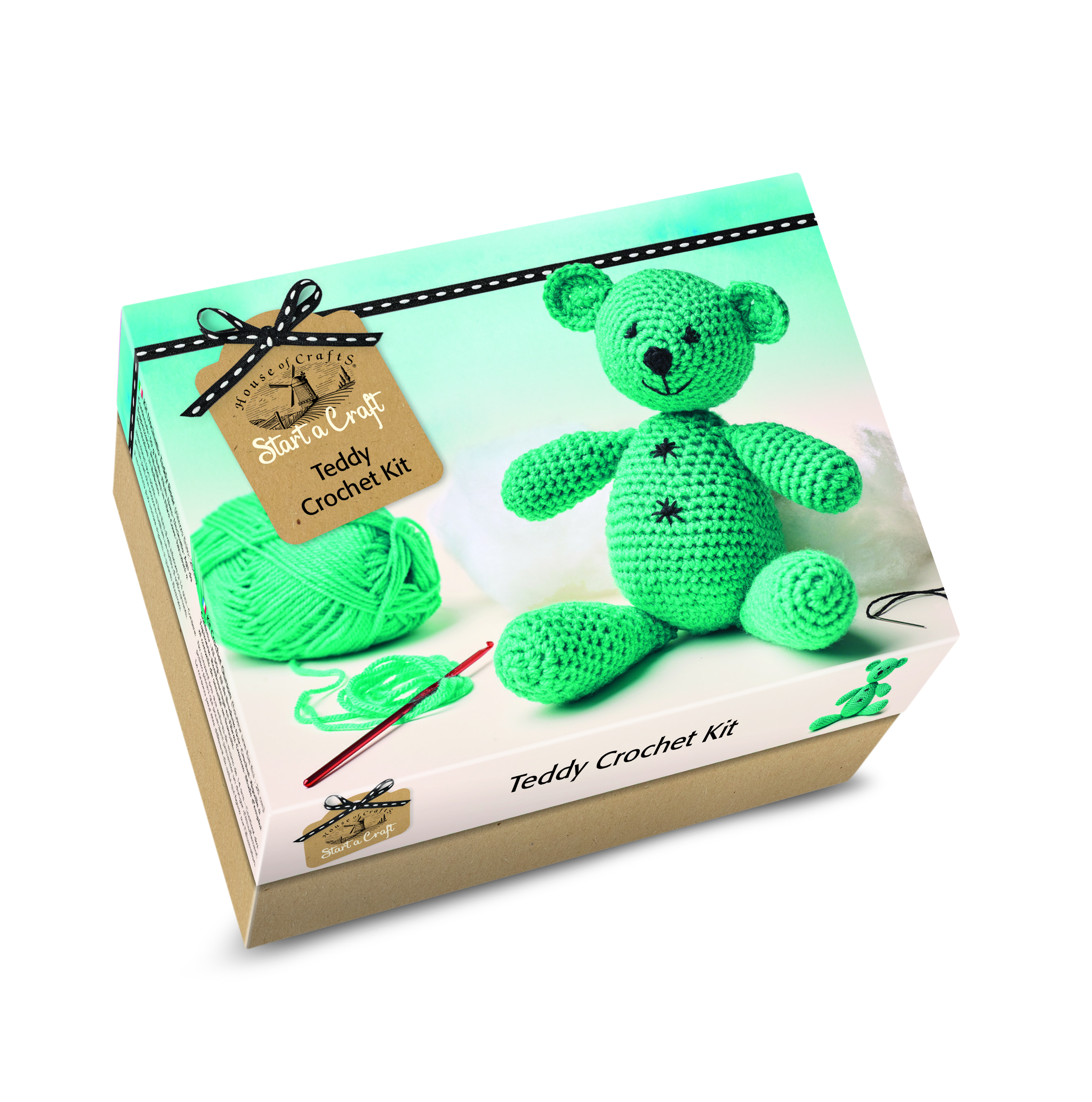 HOUSE OF CRAFTS TEDDY  CROCHET KIT SC040